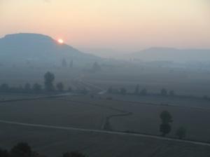 Sunrise over the Mesata.