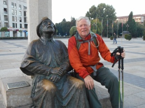 With another Camino pilgrim!